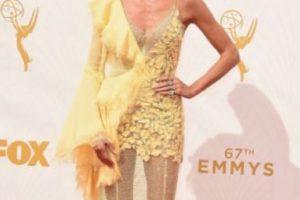 … ni siquiera se le veía bien a la modelo. Foto:vía Getty Images. Imagen Por: