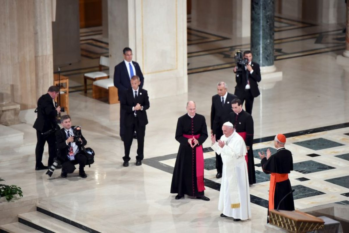 Se encuentro con el obispos de Estados Unidos en la Catedral de San Mateo. Foto:AFP. Imagen Por: