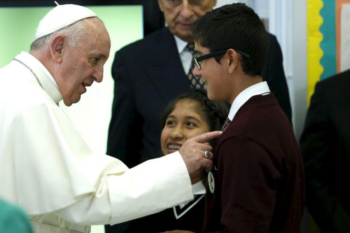 Tuvo un encuentro con niños de escuelas religiosas. Foto:AFP. Imagen Por: