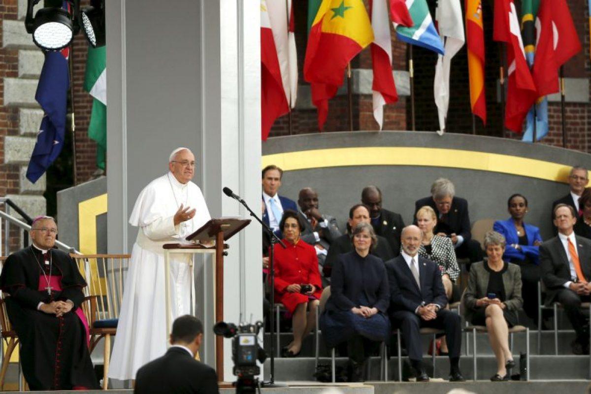 El papa dio su discurso en español. Foto:AFP. Imagen Por: