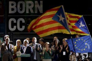 La coalición Juns pel Si, celebrando el triunfo Foto:Efe. Imagen Por:
