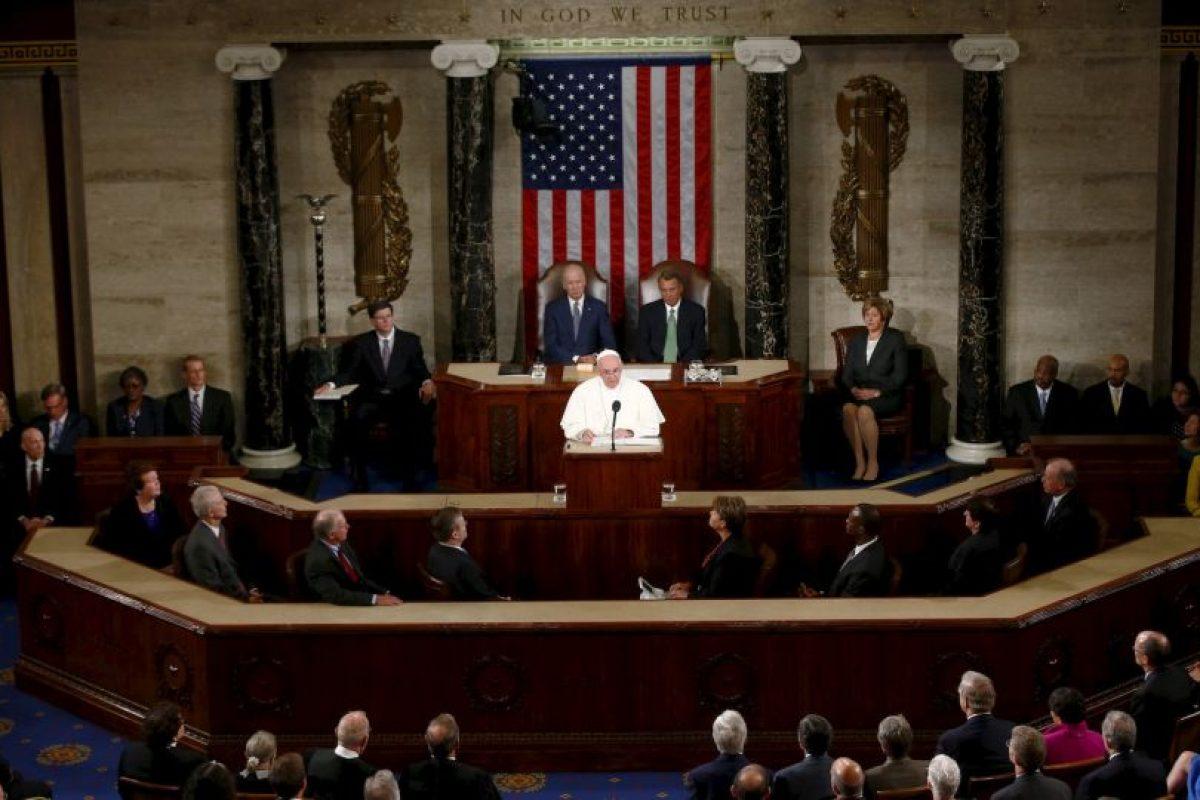Fue el primer Papa en hablar frente al Congreso estadounidense. Foto:AP. Imagen Por:
