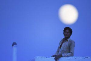 En la India la superluna claramente se notó. Foto:AFP. Imagen Por: