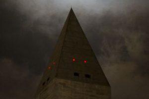 Así se vio sobre el monumento de Washington. Foto:AFP. Imagen Por:
