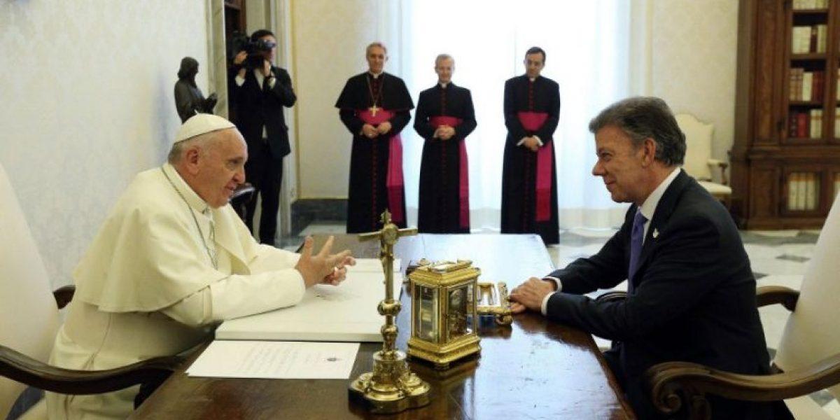Papa reconoce que intervino por la paz en Colombia