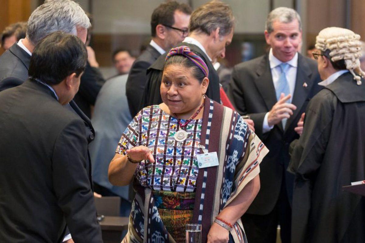 Premio Nobel de La Paz de 1992, la boliviana Rigoberta Menchú Foto:Agencia Uno. Imagen Por: