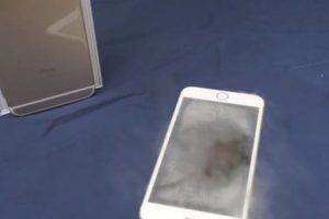 El smartphone de Apple se salvó del nitrógeno líquido. Foto:vía FullMag. Imagen Por: