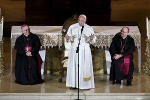 El pontífice se reunió con obispos estadounidenses para hablar sobre la problemática de abuso sexual. Foto:AP. Imagen Por: