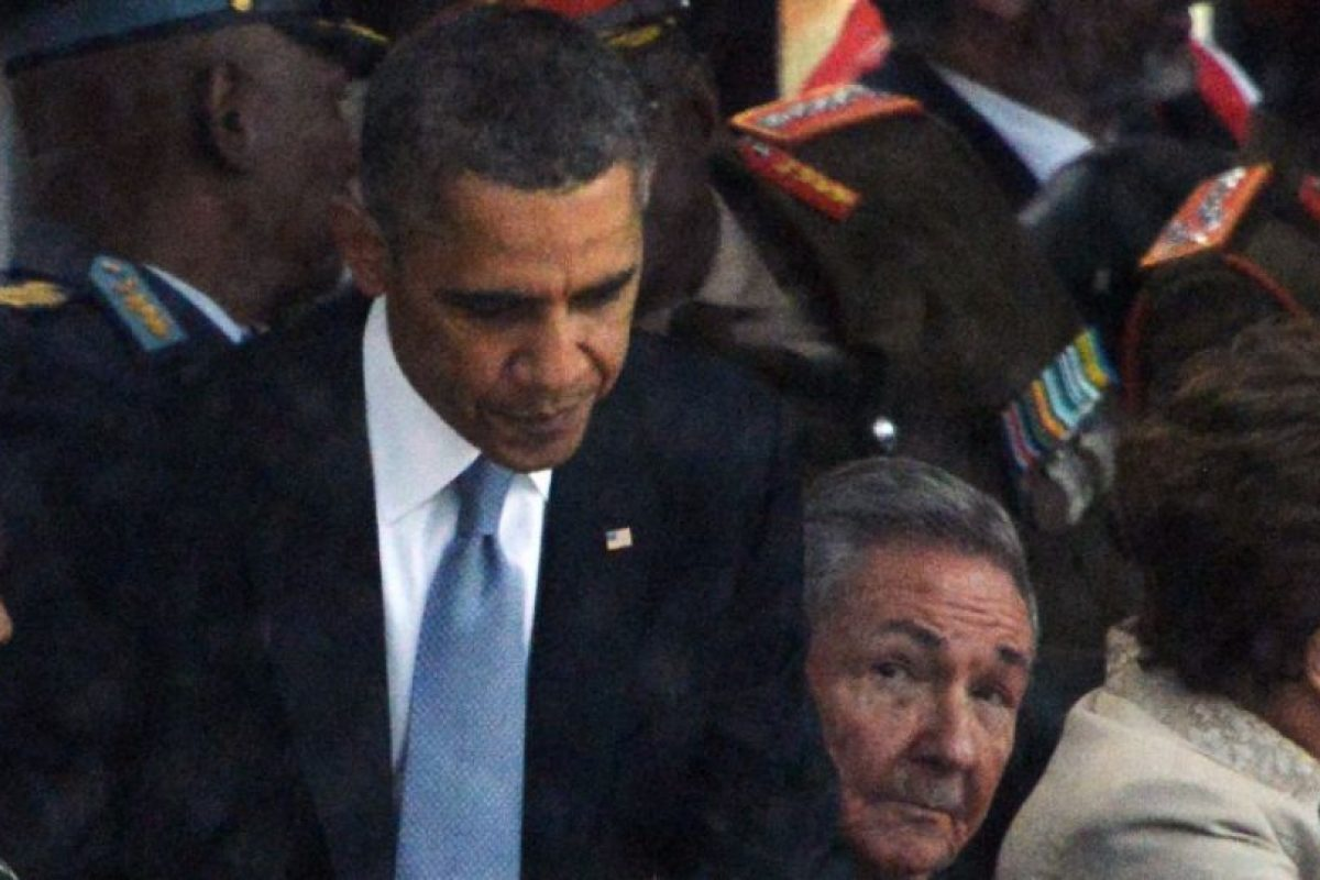 Fue un encuentro informal en el funeral de Nelson Mandela Foto:AFP. Imagen Por: