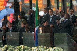Fue la primera ocasión en que los mandatarios de ambos países estrecharon la mano Foto:Getty Images. Imagen Por: