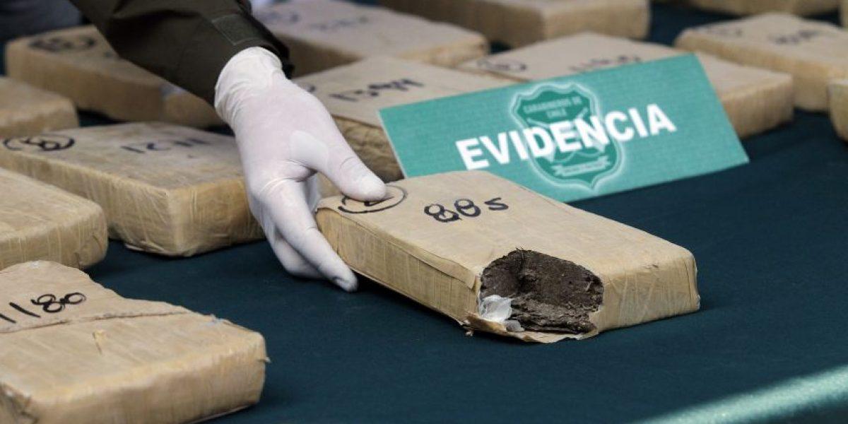 Operativo de Carabineros permitió incautar droga avaluada en $220 millones