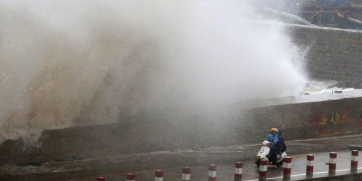 En imágenes: los vientos del tifón Dujuan llegan a China