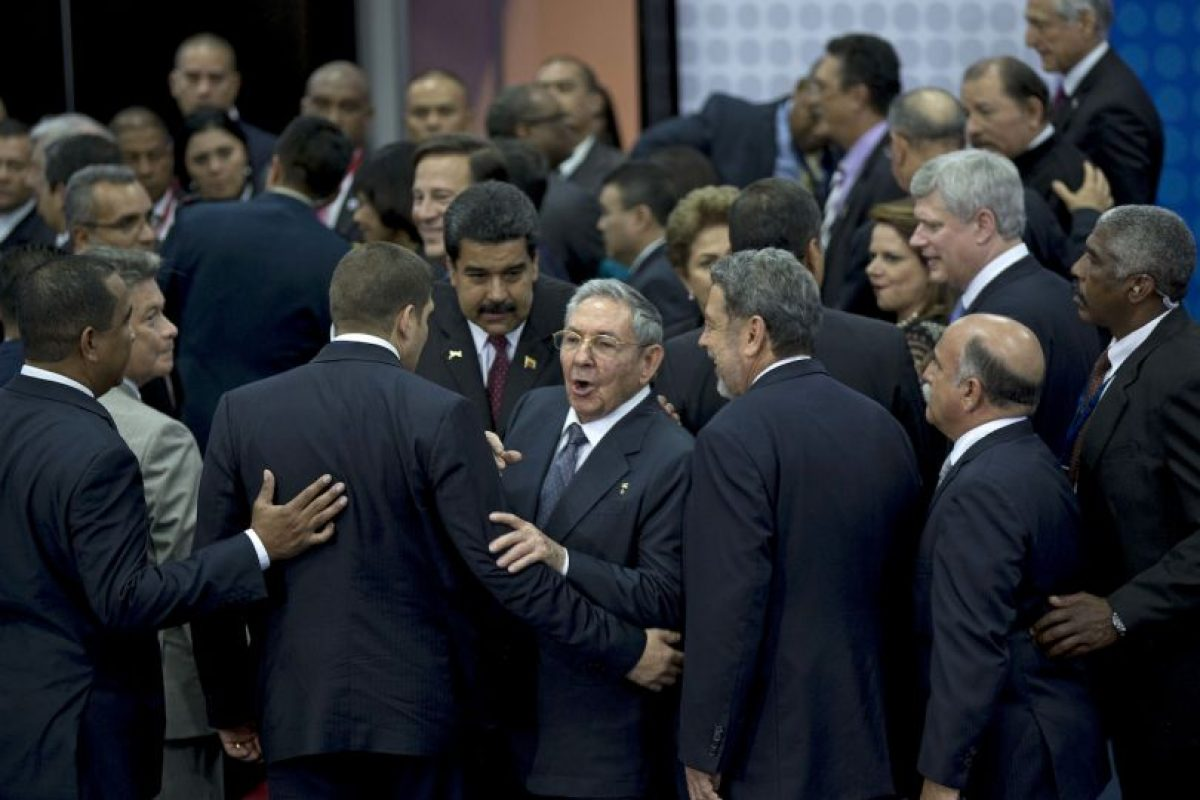La primera reunión entre ambos mandatarios tras el anuncio del descongelamiento de relaciones diplomáticas Foto:AFP. Imagen Por: