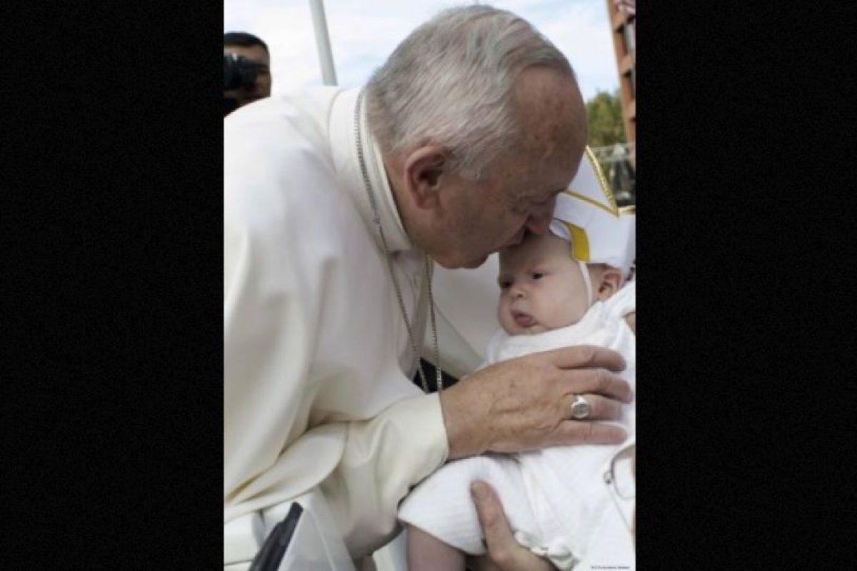Esta es la bebé que se robó el corazón del Papa Francisco Foto:Getty Images. Imagen Por: