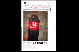Así luce el nuevo emoticon exclusivo de Coca-Cola en Twitter Foto:Twitter. Imagen Por: