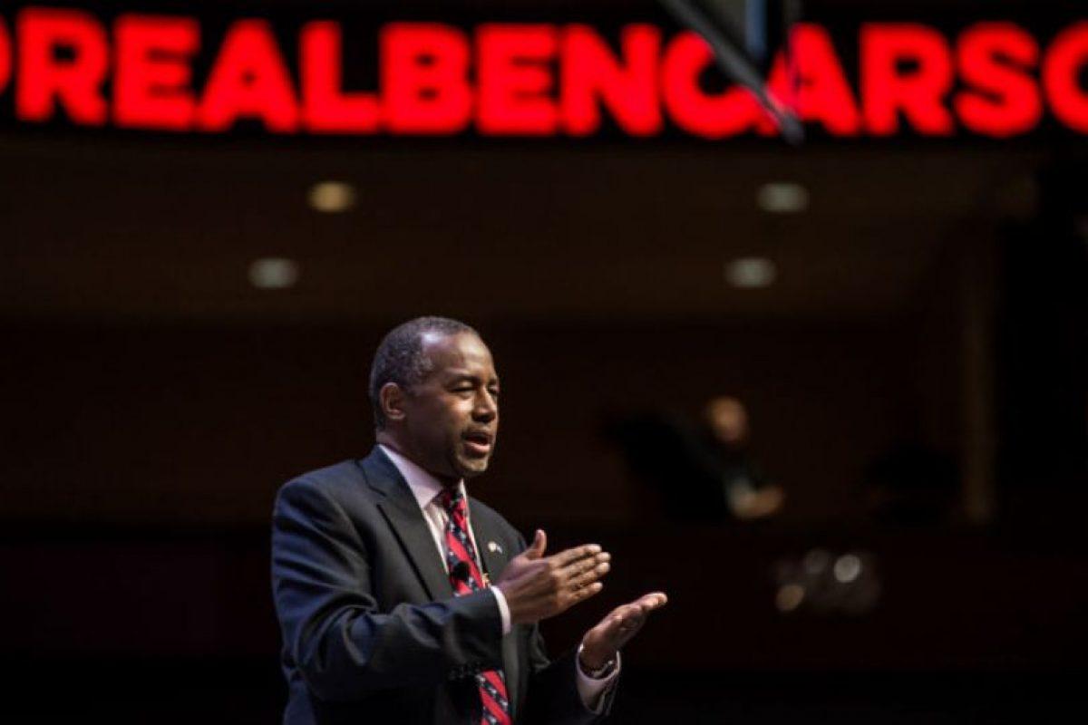 El 4 de mayo de 2015, Carson anunció su campaña. Foto:Getty Images. Imagen Por: