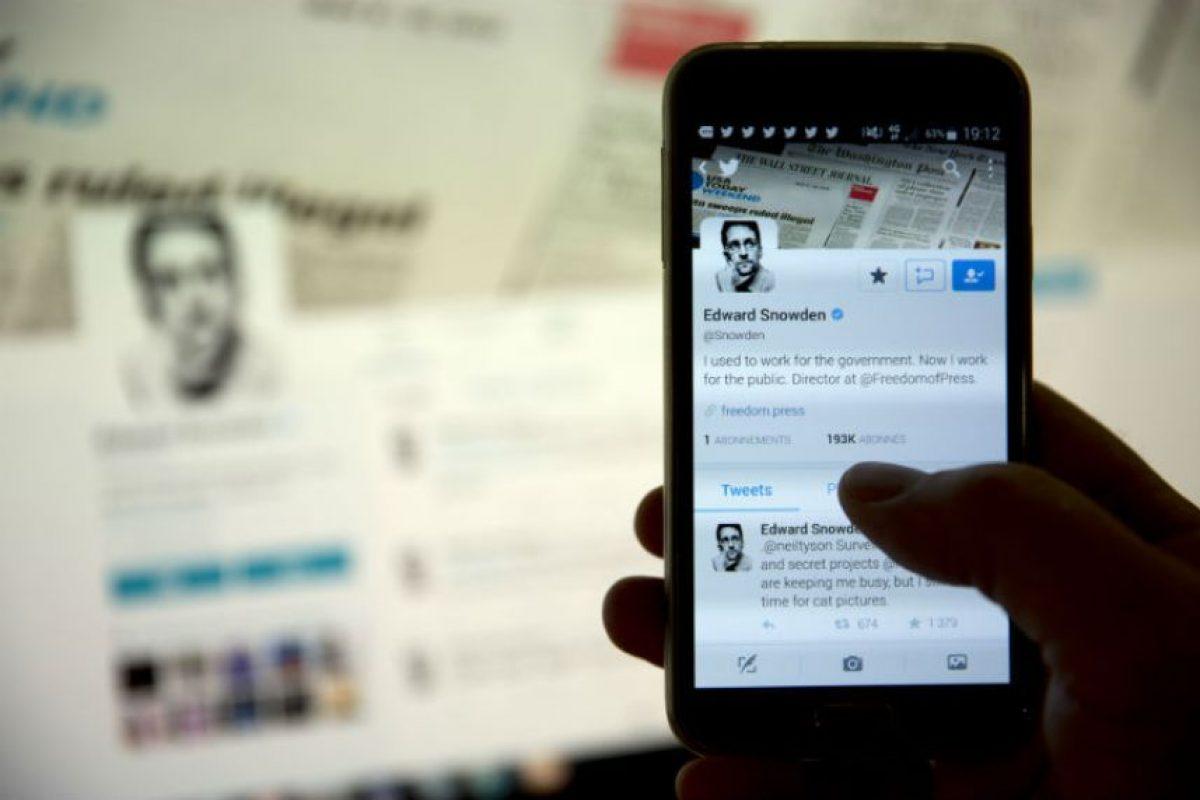 """Y hasta ahora abrió su cuenta de Twitter con la que ha """"agredido a la NSA"""". Foto:AFP. Imagen Por:"""