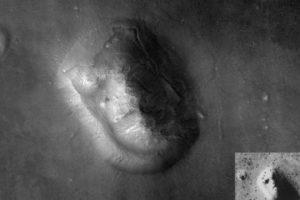 Ilusión óptica. En 2001 el Mars Global Surveyor demostró que la cara no era más que una ilusión óptica. Foto:Foto reproducida. Imagen Por: