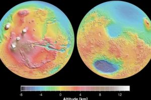 La realidad. Vista real de las elevaciones de Marte. Foto:Foto reproducida. Imagen Por:
