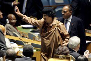 Durante ese tiempo, Gadafi se dedicó a despotricar contra la ONU y su Consejo de Seguridad Foto:Getty Images. Imagen Por: