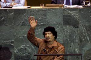2. Muamar Gaddafi en 2009, dictador de Libia derrocado en 2011 Foto:Getty Images. Imagen Por:
