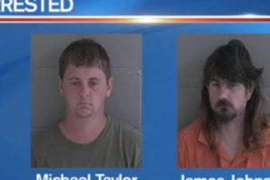 Michael Ray Taylor, de 23 años, y James Harold Johnson, de 47 años, fueron arrestados en Georgia, Estados Unidos, por abuso sexual de menores. Utilizaban Snpachat para contactar a sus víctimas. Foto:vía WJCL News. Imagen Por: