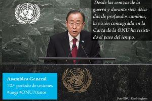 Ban Ki-moon, secretario general de las Naciones Unidas Foto:Twitter.com/ONU_es. Imagen Por: