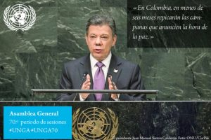Juan Manuel Santos, presidente de Colombia Foto:Twitter.com/ONU_es. Imagen Por: