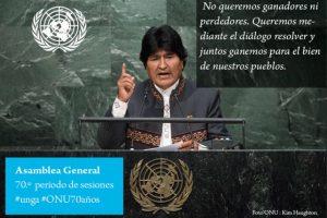 Evo Morales, presidente de Bolivia Foto:Twitter.com/ONU_es. Imagen Por: