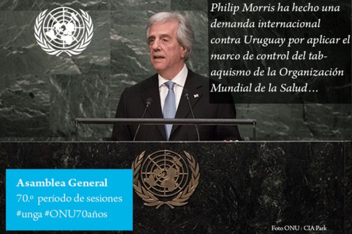 Tabare Vázquez, presidente de Uruguay Foto:Twitter.com/ONU_es. Imagen Por: