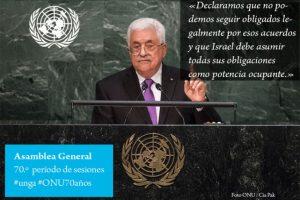 Mammud Abbas, líder de Palestina Foto:Twitter.com/ONU_es. Imagen Por: