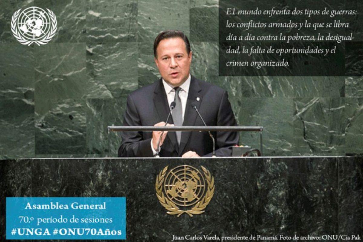 Juan Carlos Varela, presidente de Panamá´ Foto:Twitter.com/ONU_es. Imagen Por:
