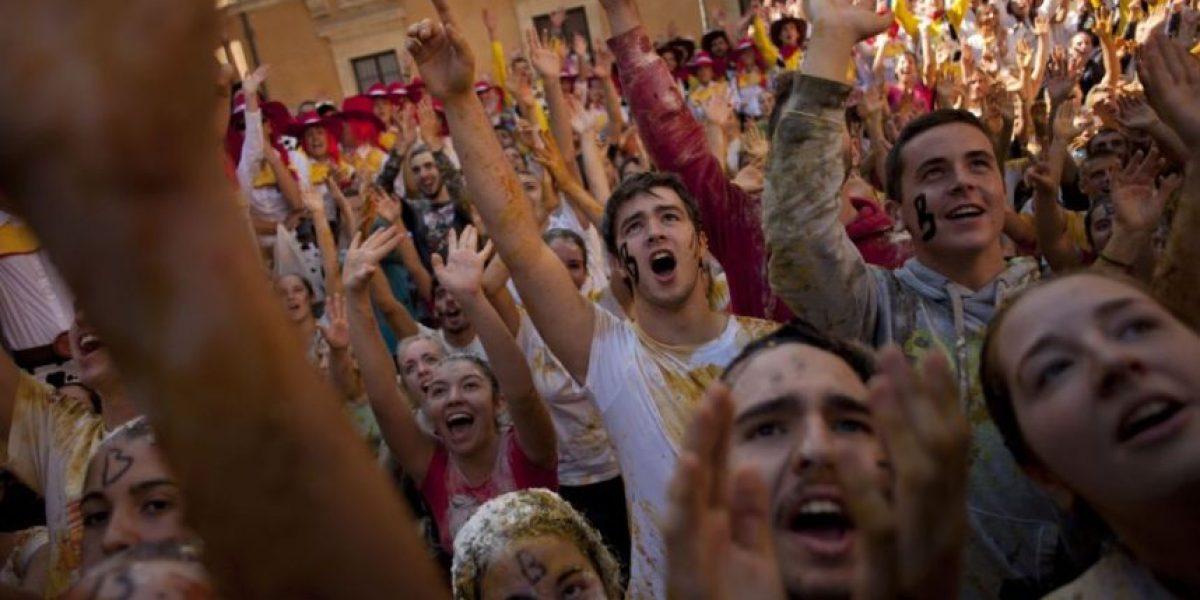 Las mejores fotos de las Novatadas a los nuevos de Medicina en Granada