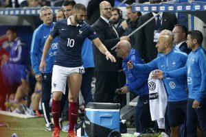 El atacante francés anotó un doblete en el amistoso entre Francia y Armenia (que terminó 4-0), pero al final del encuentro se marchó por una lesión de grado 1 de los isquiotibiales en la pierna izquierda. Foto:Getty Images. Imagen Por:
