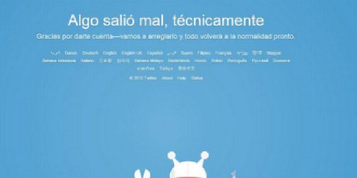 Twitter sufre caída a nivel mundial