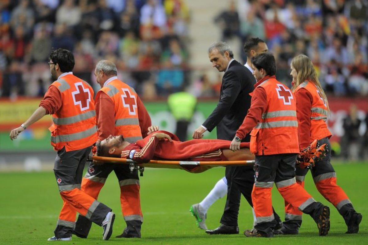 """Se lesionó durante el partido contra Luxemburgo y aunque primero se habló de una fractura en la pierna derecha, Juventus indicó que sólo era un """"traumatismo"""" y que el jugador iba a volver a las canchas pronto. Foto:Getty Images. Imagen Por:"""