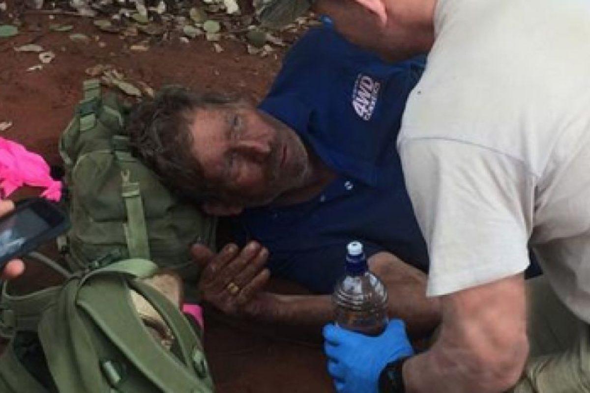 Reginald Foggerdy casi se muere en el Desierto de Victoria. Foto:vía Twitter. Imagen Por: