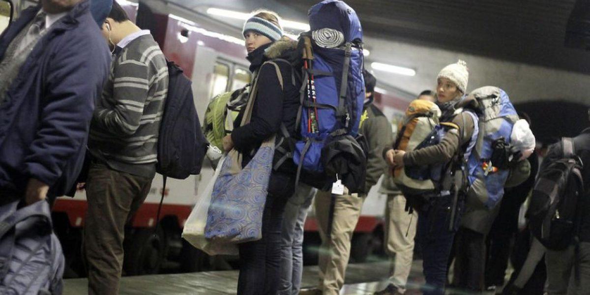 Metro sufrió sufrió interrupción en Estación Central en plena hora punta