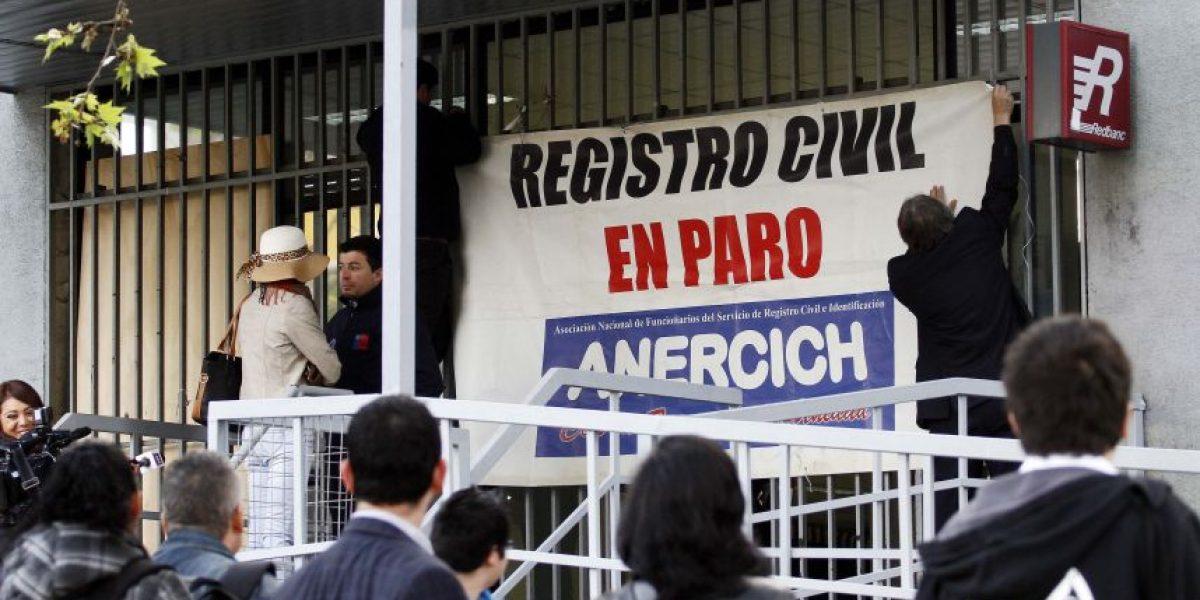 Gobierno inicia investigación sumaria por paro en el Registro Civil