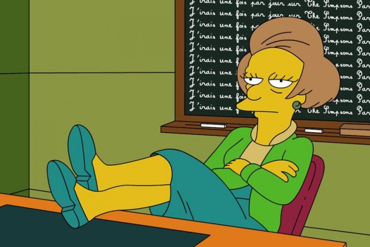 """La profesora Edna Krabappel en """"Los Simpson"""" Foto:Reproducción. Imagen Por:"""
