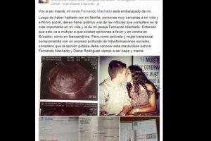 Entonces Diane compartió que Fernando estaba embarazado. Foto:vía Facebook/Diane Rodriguez. Imagen Por: