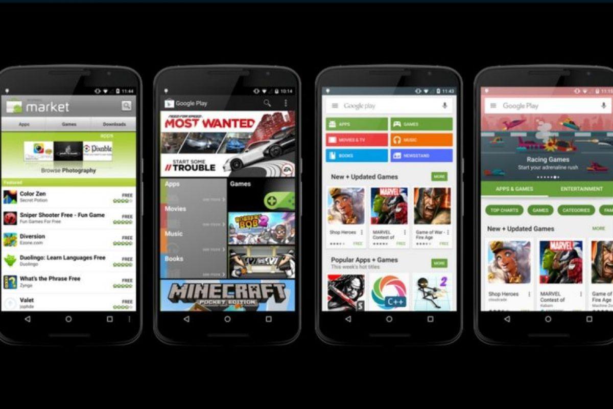 Así ha evolucionado la tienda de apps para Android. Foto:vía plus.google.com/+KirillGrouchnikov. Imagen Por: