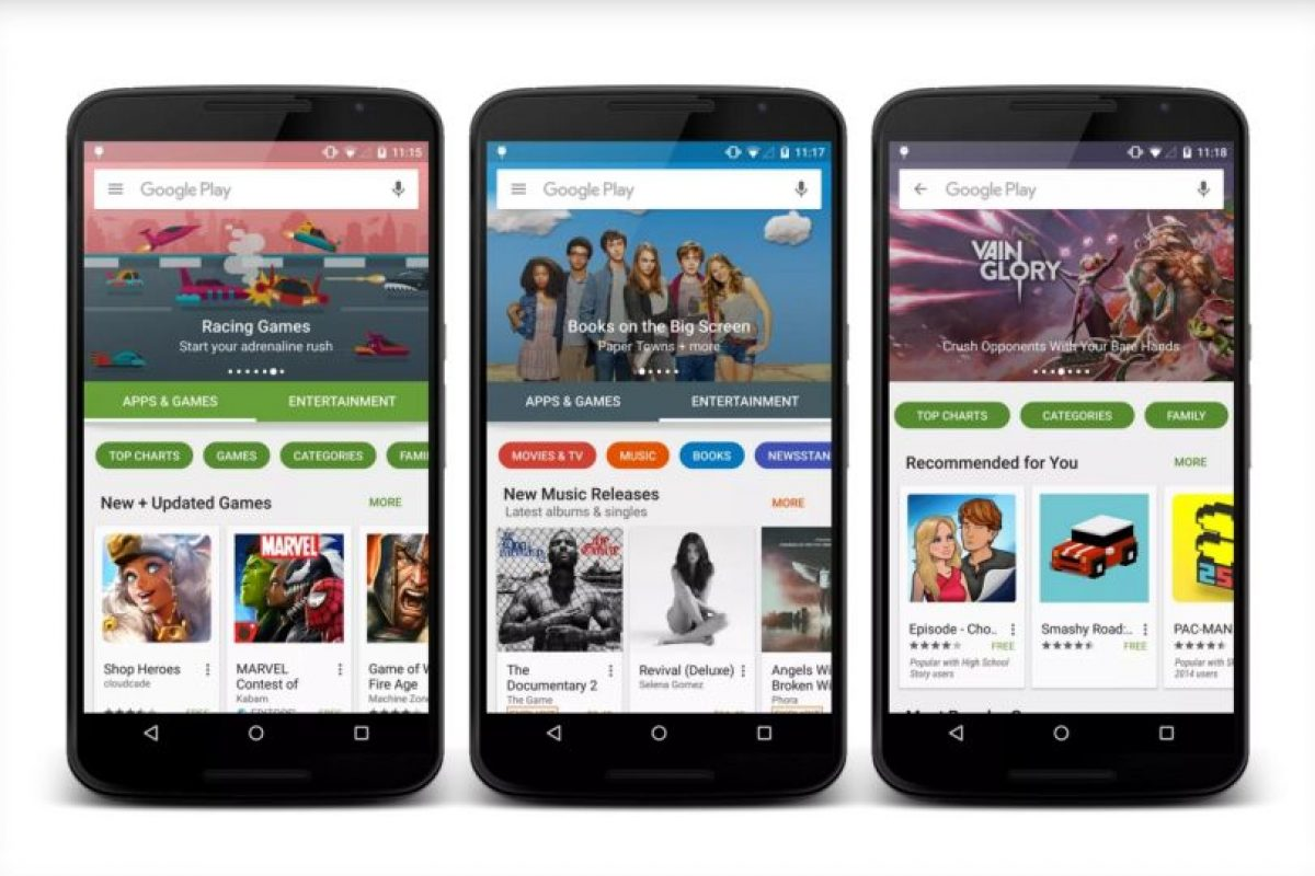 Google Play 5.0 estará disponible próximamente. Foto:vía plus.google.com/+KirillGrouchnikov. Imagen Por: