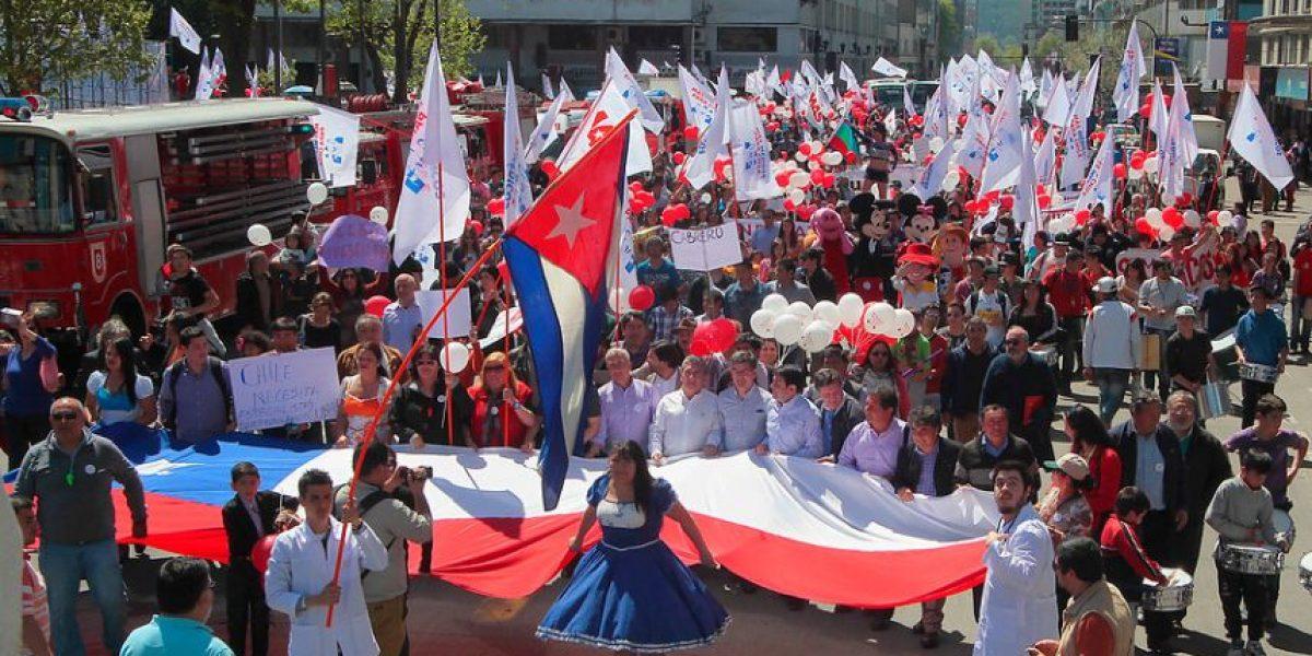 Concepción: miles de personas marcharon este sábado por más médicos