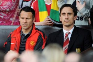 Ryan Giggs y Gary Neville tuvieron un gran gesto solidario. Foto:Getty Images. Imagen Por: