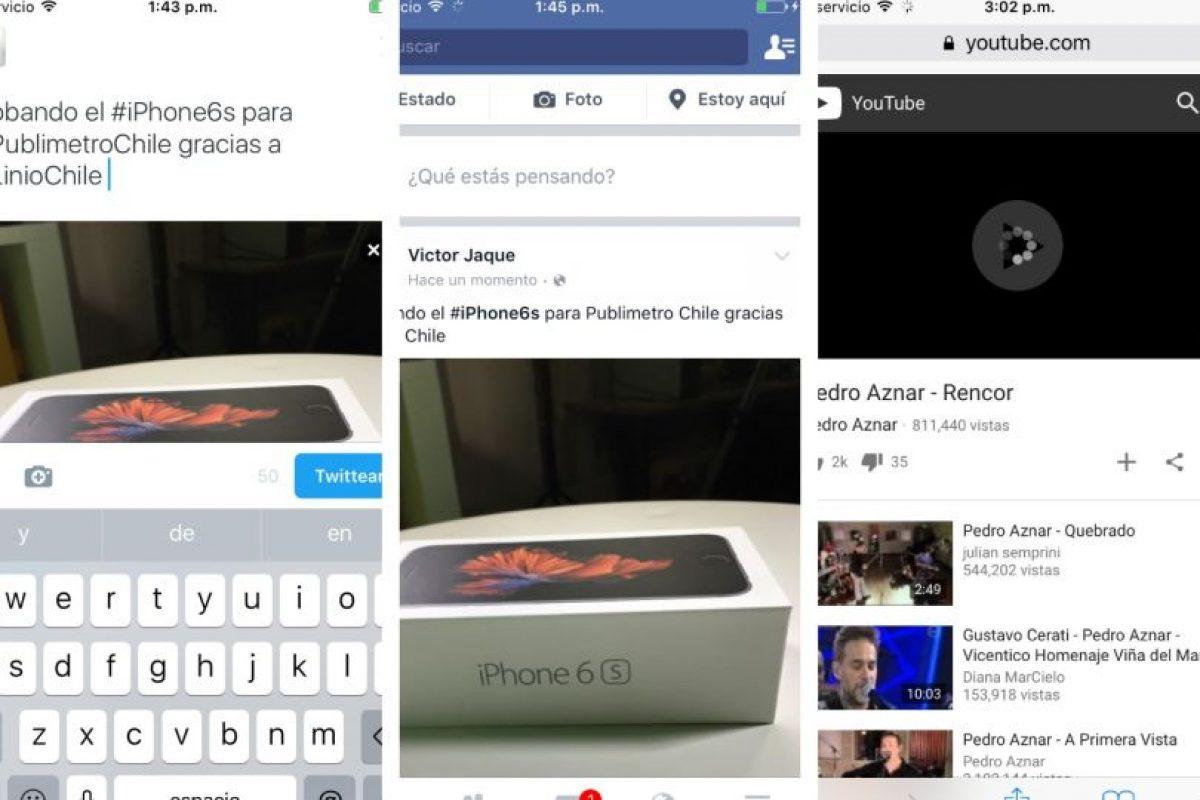 Así es la vista al usar las redes sociales Foto:Publimetro / Víctor Jaque. Imagen Por: