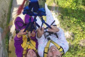 Si les da miedo lanzarse solos, aquí pueden hacerlo en pareja Foto:Facebook.com/gravitycanyonnz. Imagen Por: