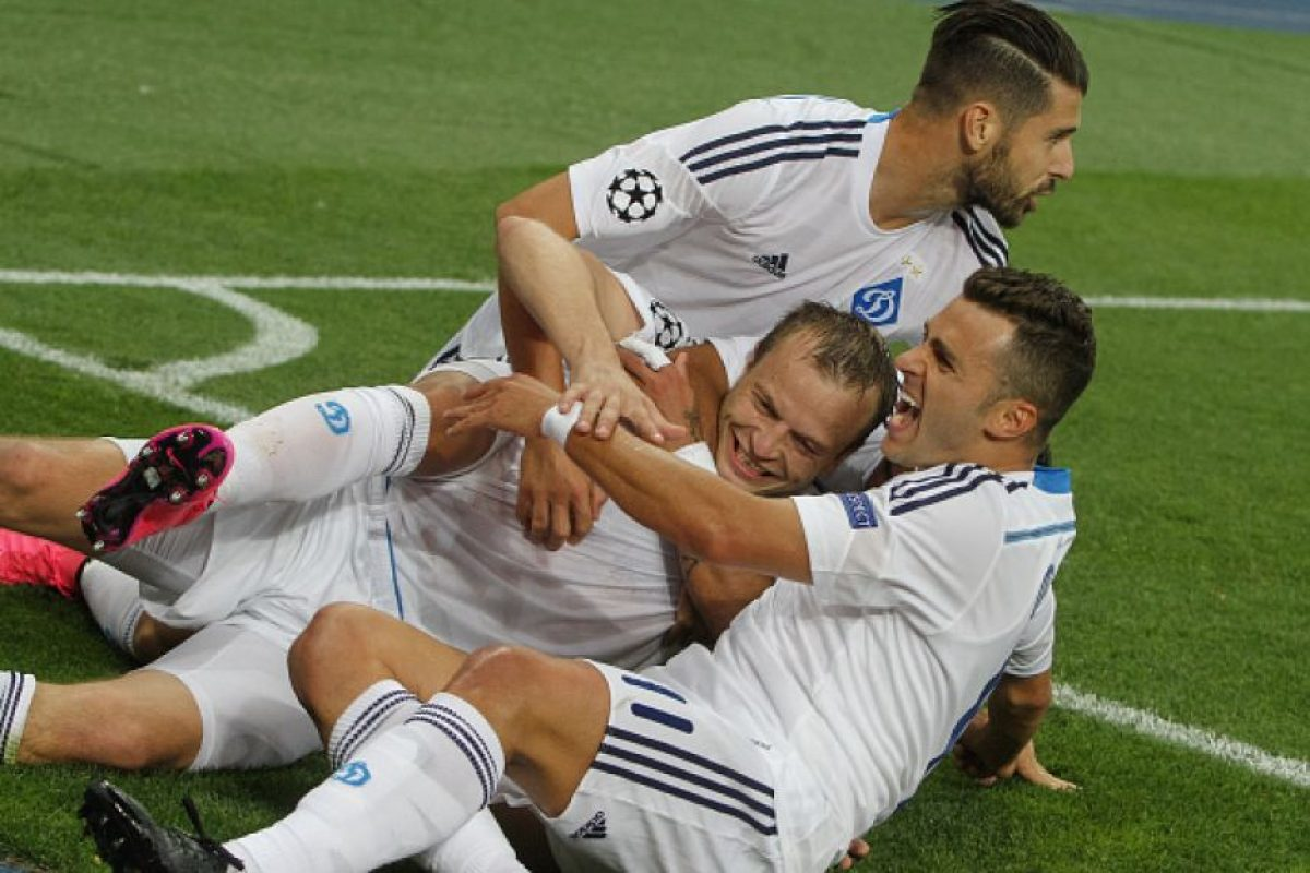 Dinamo de Kiev vs. Chelsea en el Estadio Olímpico de Kiev. Foto:Getty Images. Imagen Por: