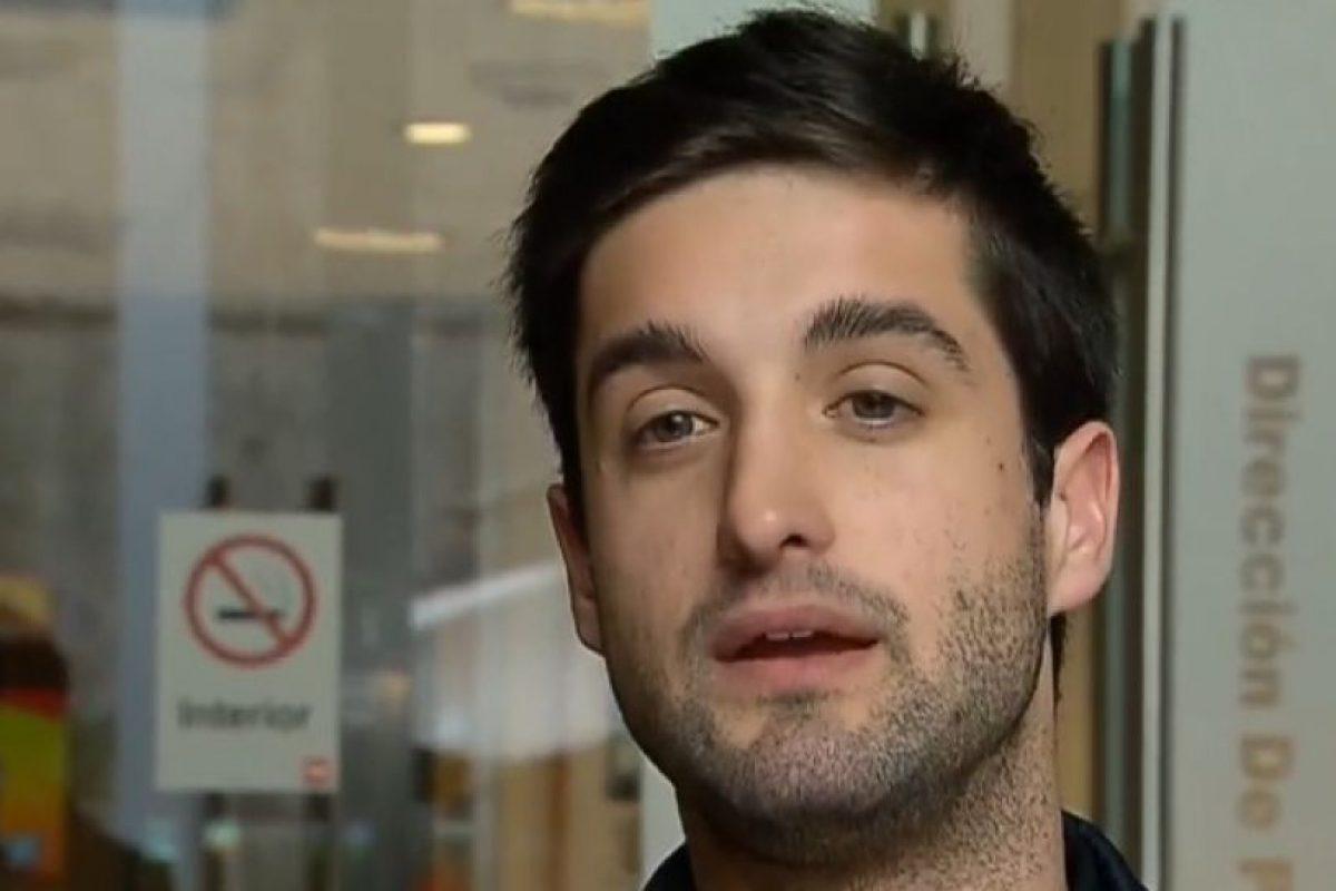 Tomás Hinzpeter, el afectado Foto:Reproducción / Canal 24 Horas. Imagen Por: