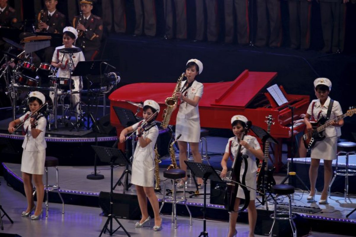El concierto fue parte de la celebraciones del 70 aniversario de la creación del Partido de los Trabajadores de Corea del Norte. Foto:AP. Imagen Por: